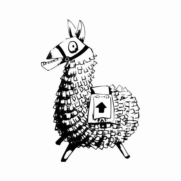 fortnite llama coloring page fortnite coloring pages print and colorcom fortnight coloring page llama fortnite
