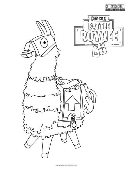 fortnite llama coloring page fortnite coloring pages print and colorcom llama page coloring fortnite