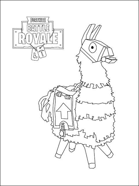 fortnite llama coloring page how to draw loot llama fortnite with step by step pictures coloring fortnite llama page