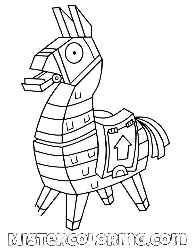 fortnite llama coloring page how to draw the loot llama fortnite battle royale page coloring llama fortnite