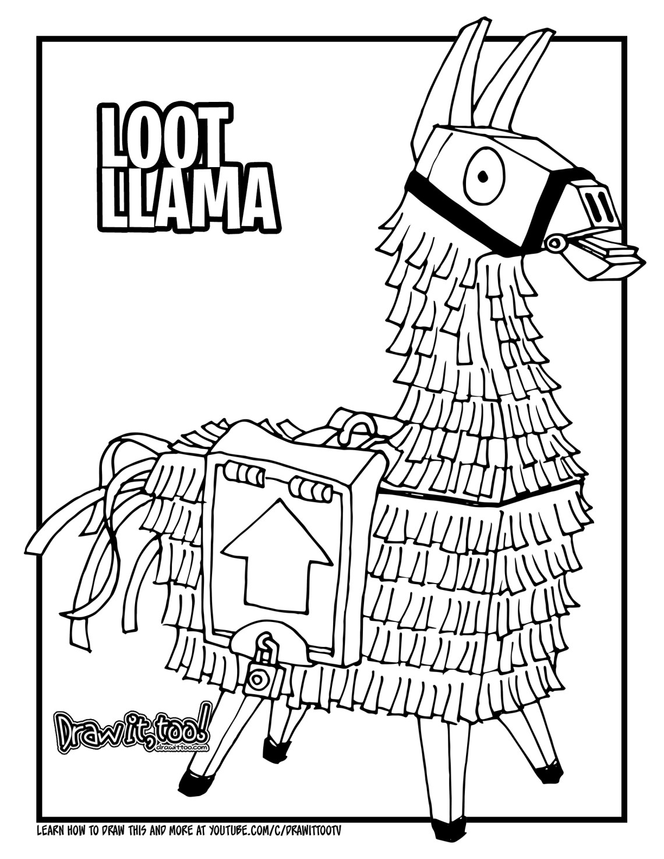 fortnite llama coloring page llama fortnite coloring page super fun coloring llama fortnite coloring page