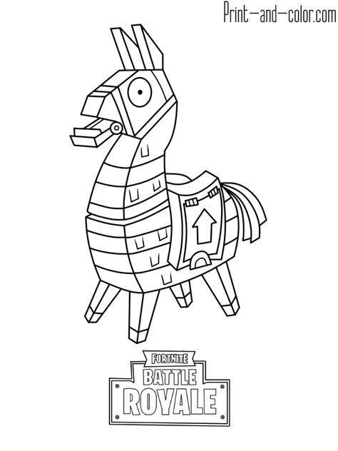 fortnite llama coloring page llama from fortnite coloring page coloring page llama fortnite