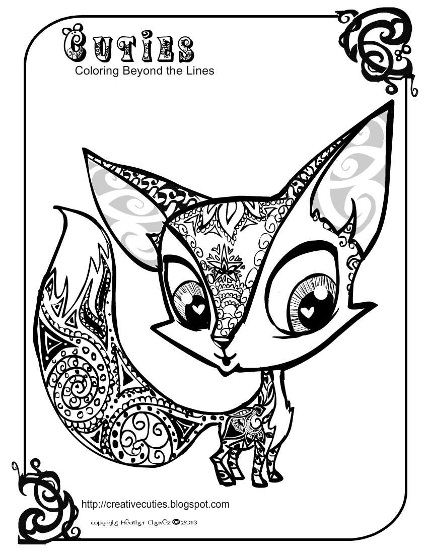 fox coloring pages fox kd doodle coloring pages fox