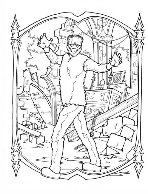 frankenstein coloring book pages frankenstein coloring pages getcoloringpagescom pages book coloring frankenstein