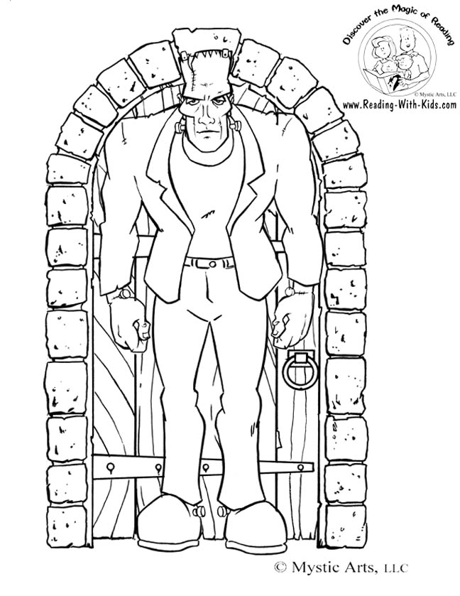 frankenstein coloring book pages halloween coloring pages july 2010 pages frankenstein coloring book