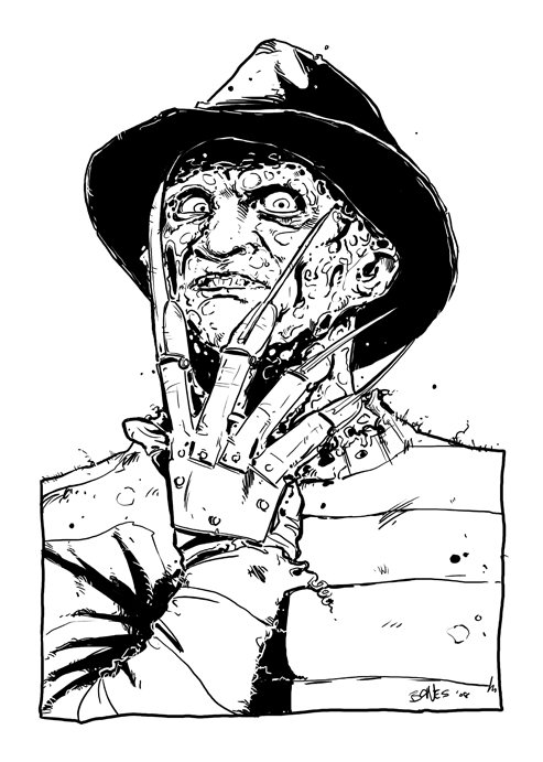 freddy krueger coloring pages 59 best images about horror on pinterest more coloring pages krueger freddy coloring