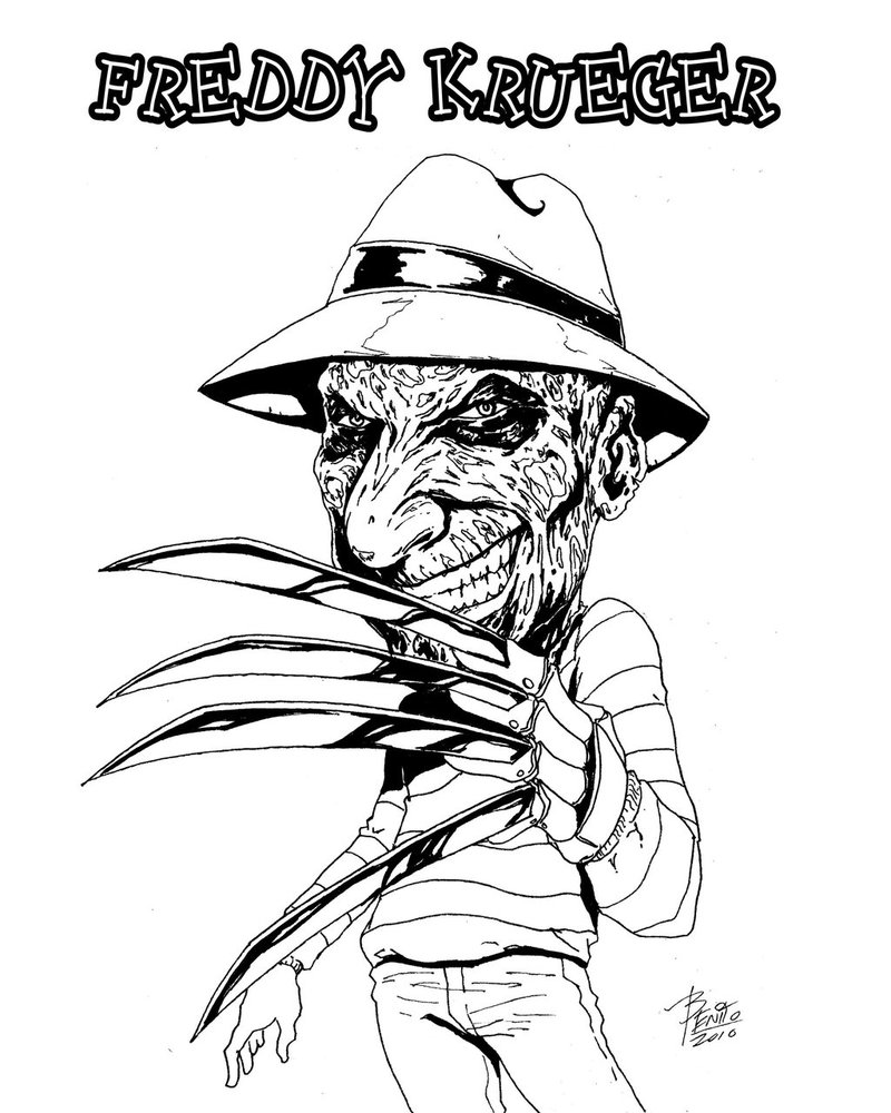 freddy krueger coloring pages draw freddy krueger easy step by step drawing sheets krueger pages freddy coloring