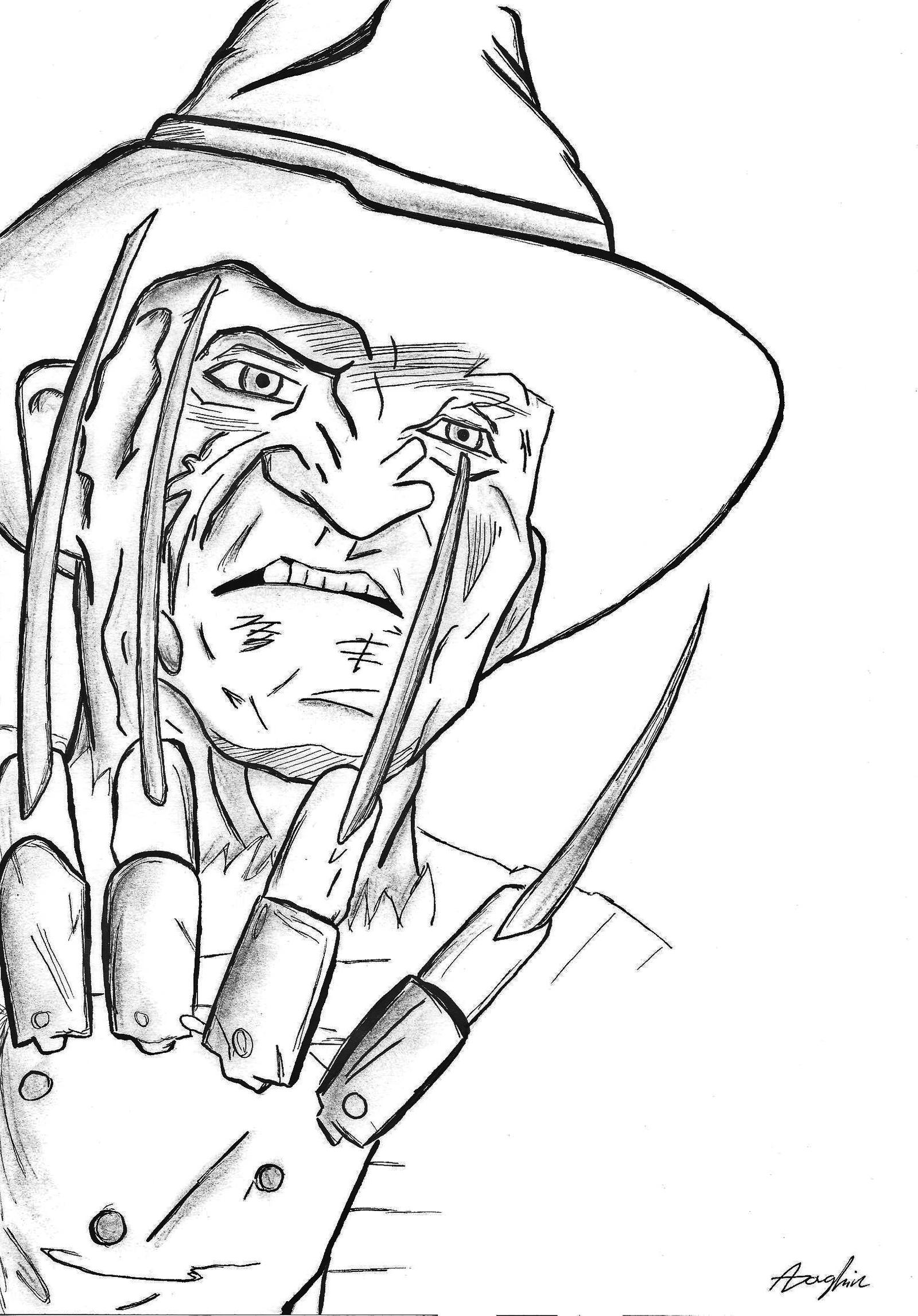 freddy krueger coloring pages freddy krueger by angela joker on deviantart coloring freddy pages krueger