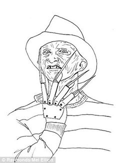 freddy krueger coloring pages freddy krueger coloring pages at getcoloringscom free coloring krueger pages freddy
