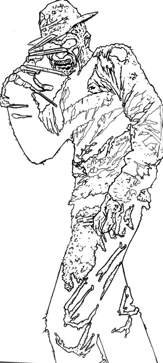 freddy krueger coloring pages freddy kruger by frostdusk freddy krueger drawing pages krueger freddy coloring