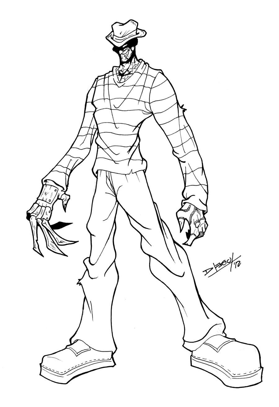 freddy krueger coloring pages how to draw chibi freddy krueger step by step chibis freddy krueger pages coloring