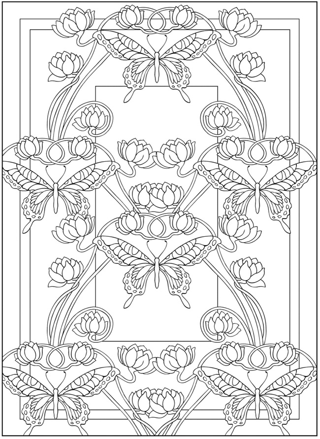 free art coloring pages art nouveau coloring pages to download and print for free free art pages coloring
