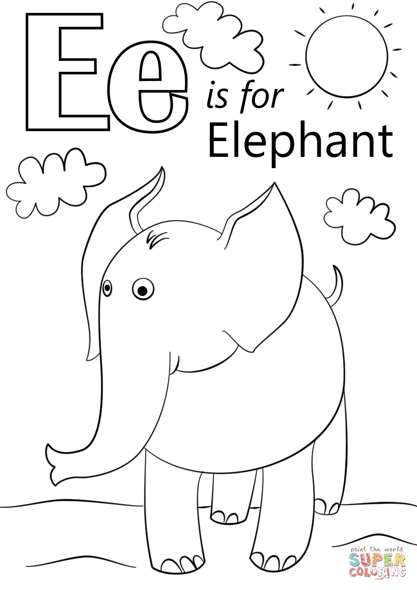 free coloring letters letter e is for elephant super coloring abc coloring coloring free letters