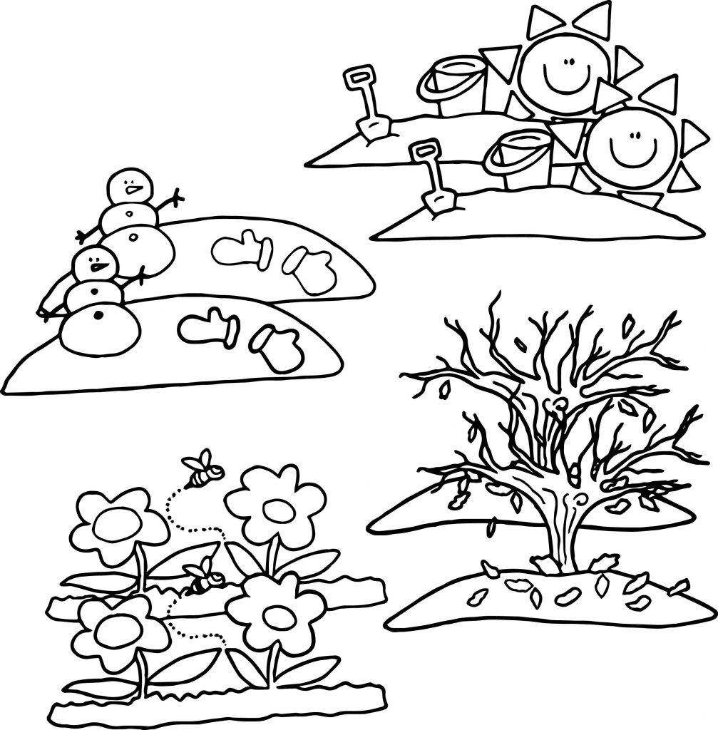 free coloring pages 4 seasons 4 seasons cartoon coloring page wecoloringpagecom pages seasons free 4 coloring