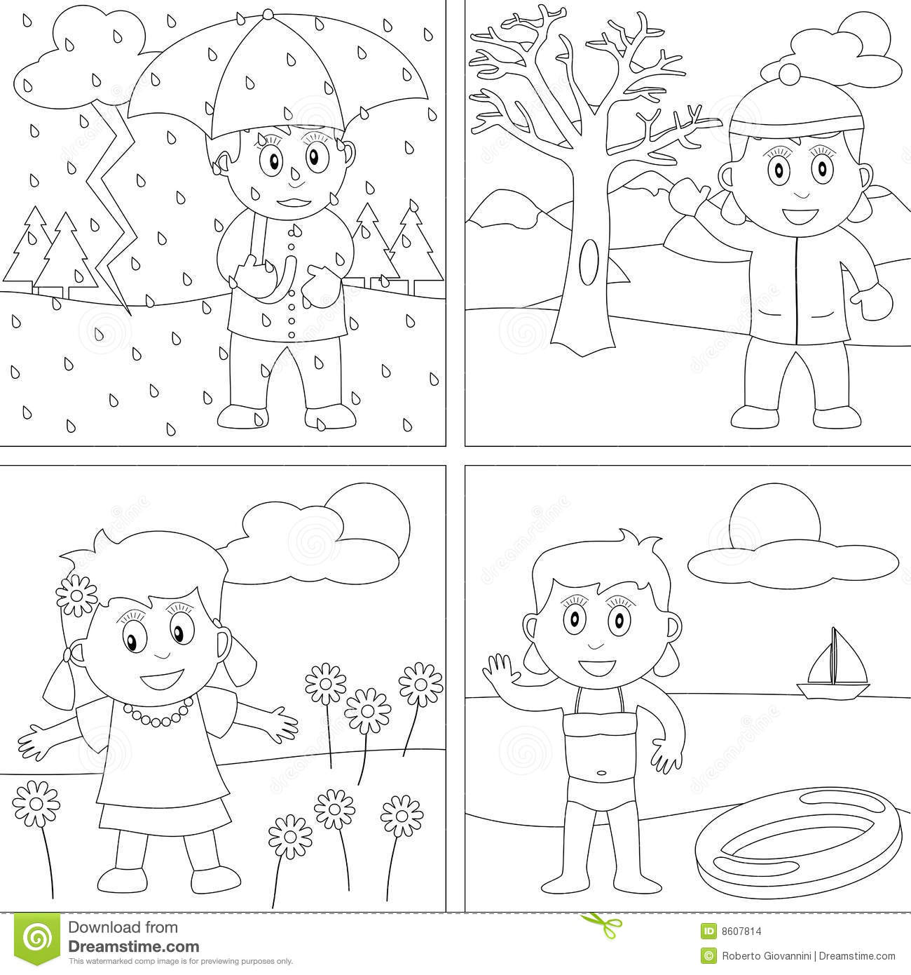 free coloring pages 4 seasons coloring book for kids 28 stock images image 8607814 pages seasons coloring 4 free