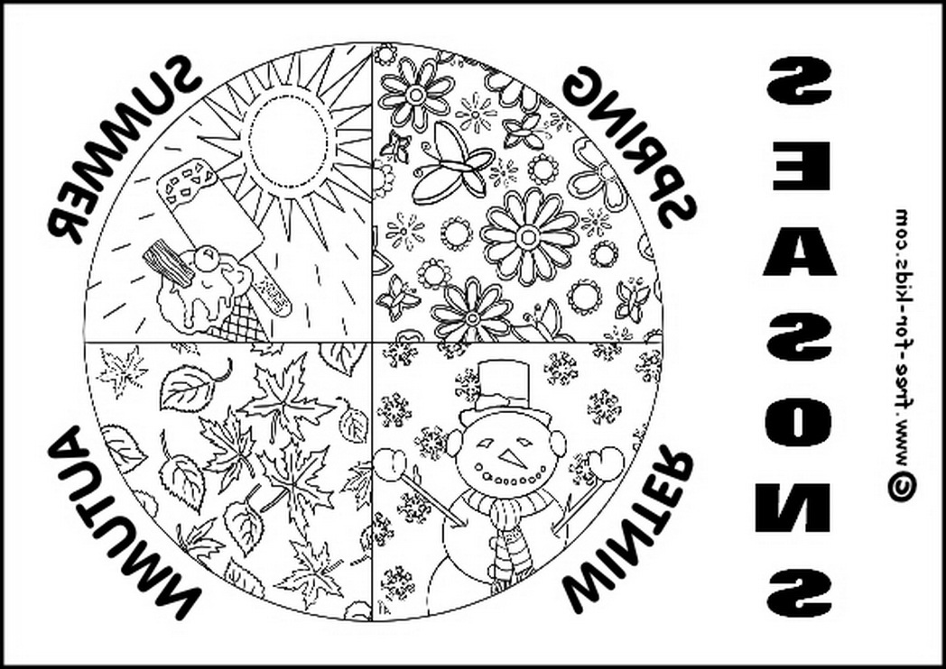 free coloring pages 4 seasons four seasons country cottage coloring page favecraftscom coloring 4 free seasons pages