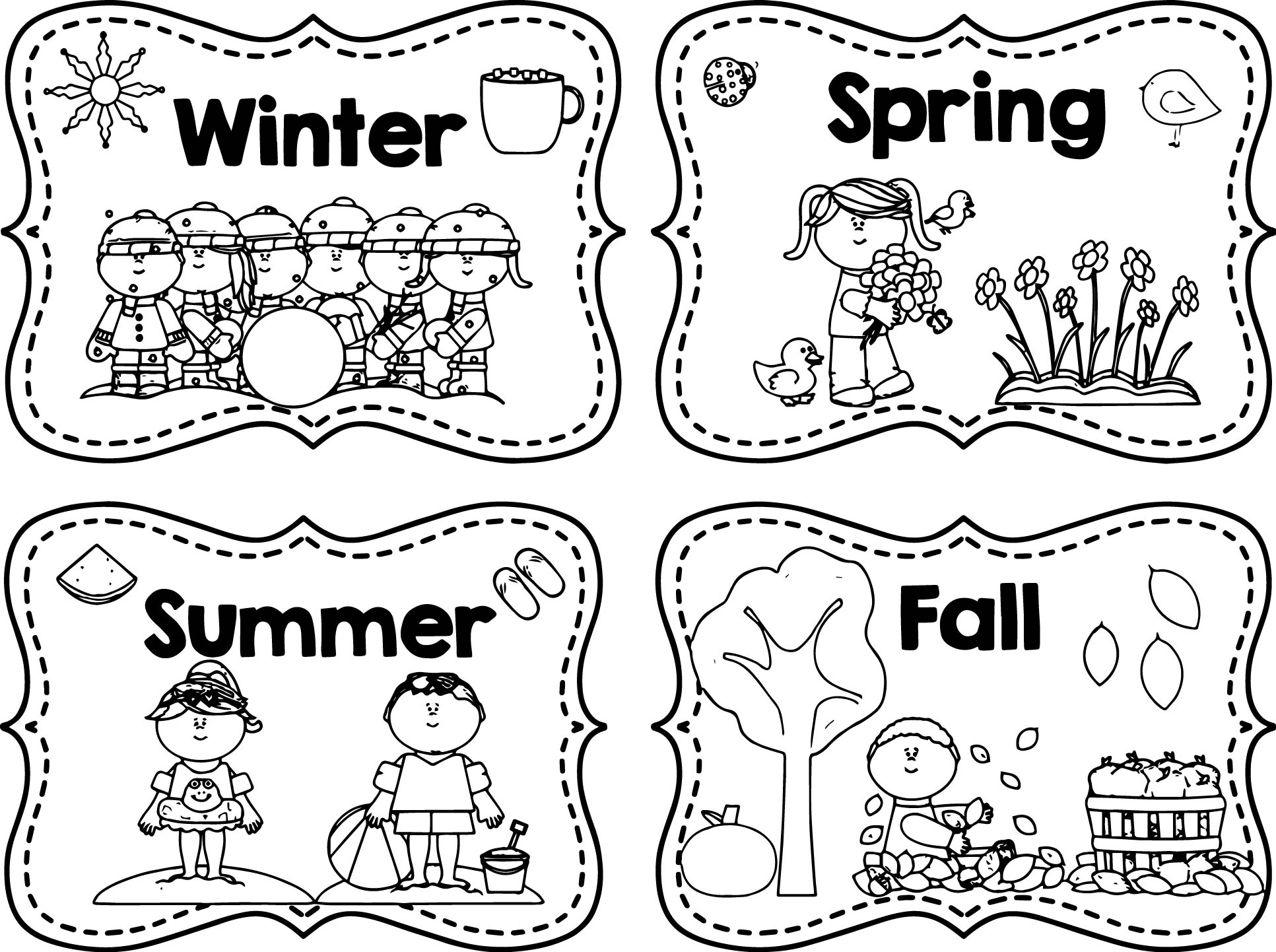 free coloring pages 4 seasons four seasons pages coloring pages pages free seasons coloring 4