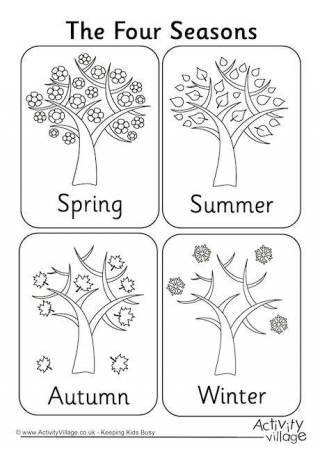 free coloring pages 4 seasons four seasons poster 4 free coloring pages seasons