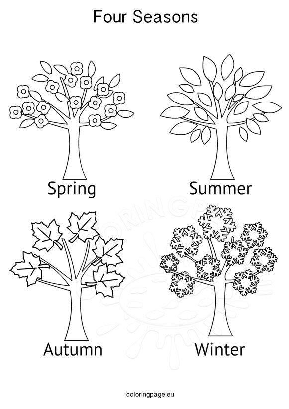 free coloring pages 4 seasons seasons activities four seasons tree coloring page seasons pages coloring 4 free