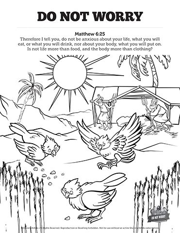 free coloring pages for childrens church matthew 6 do not worry sunday school coloring pages your for church pages coloring free childrens