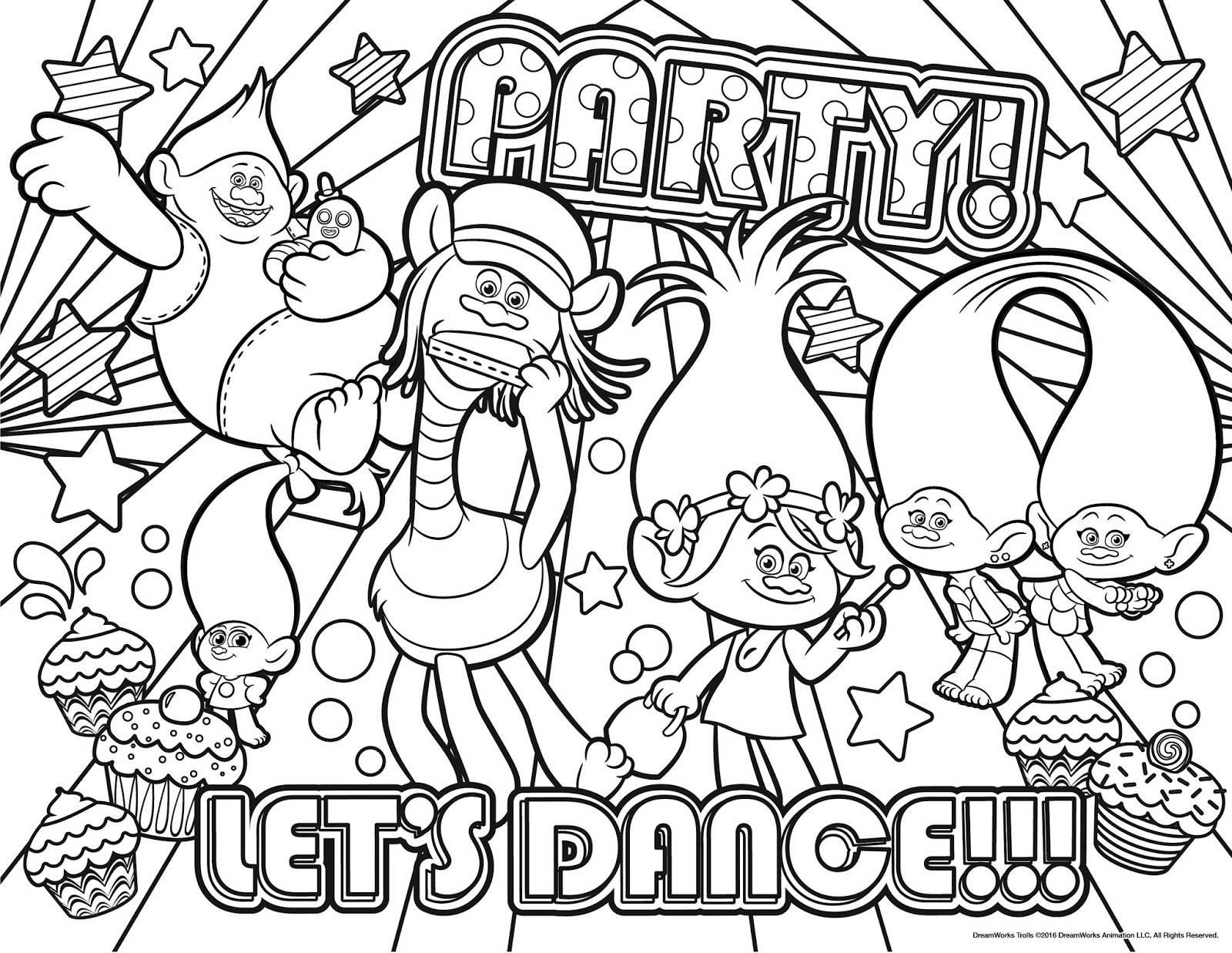 free coloring pages trolls trolls movie coloring pages best coloring pages for kids trolls coloring free pages