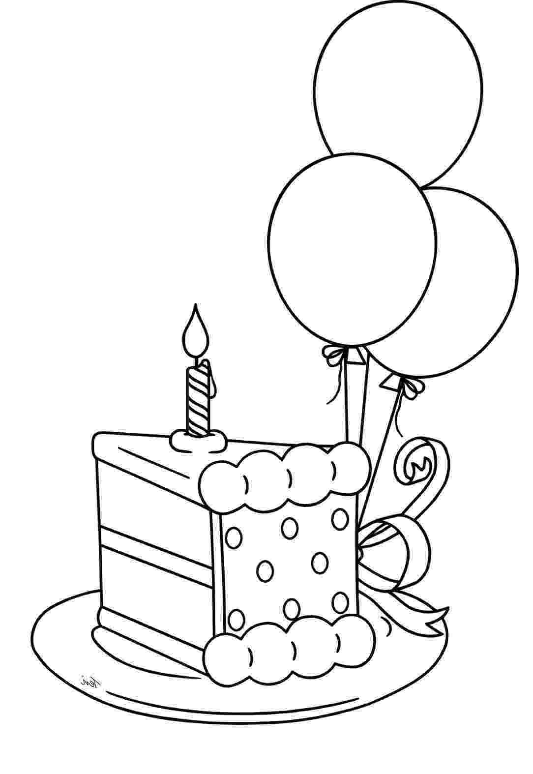 free colouring pages birthday cake birthday cake coloring pages getcoloringpagescom pages colouring free cake birthday
