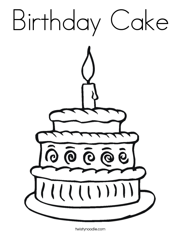 free colouring pages birthday cake birthday cake drawing images at getdrawingscom free for pages free colouring birthday cake