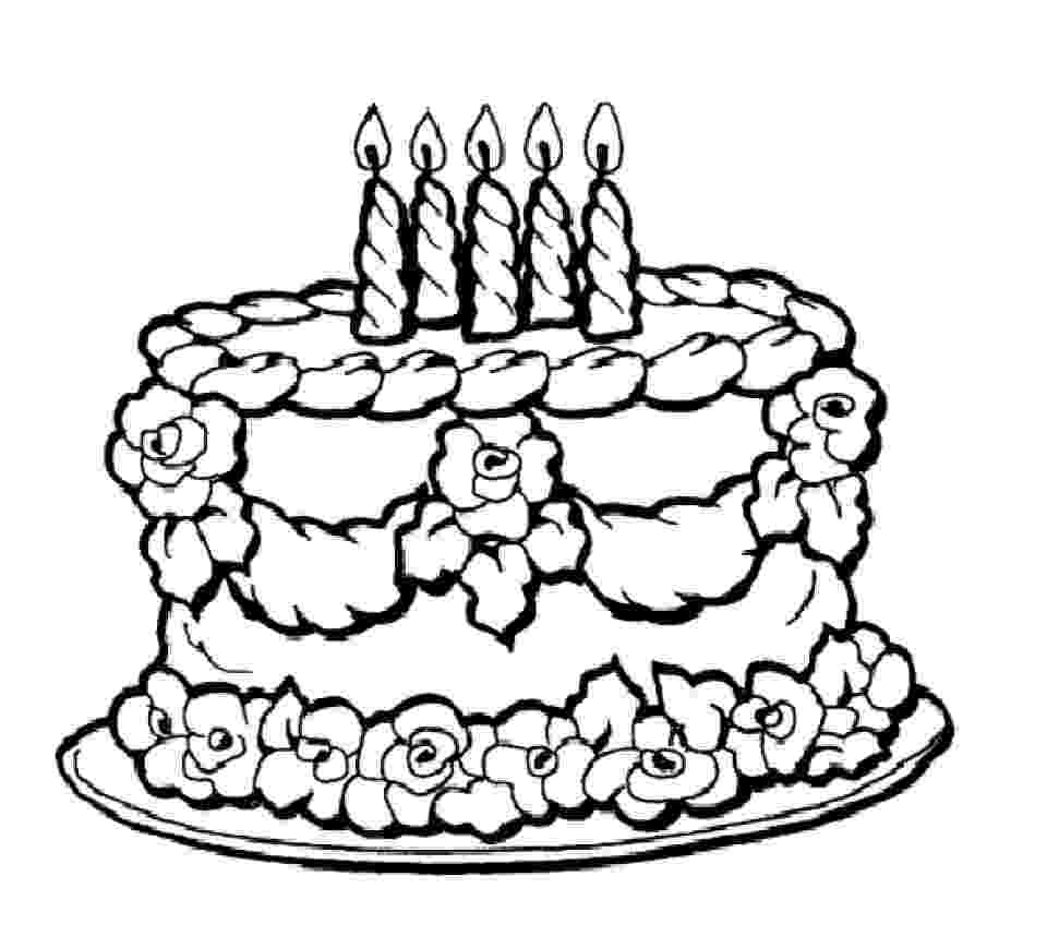 free colouring pages birthday cake candle birthday cake coloring pages happy birthday birthday pages free colouring cake