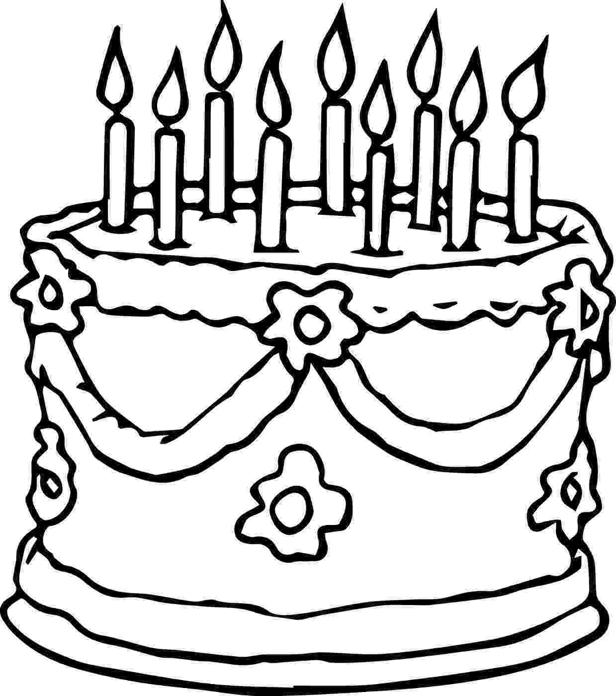 free colouring pages birthday cake wedding birthday cake coloring page wecoloringpagecom free cake pages colouring birthday