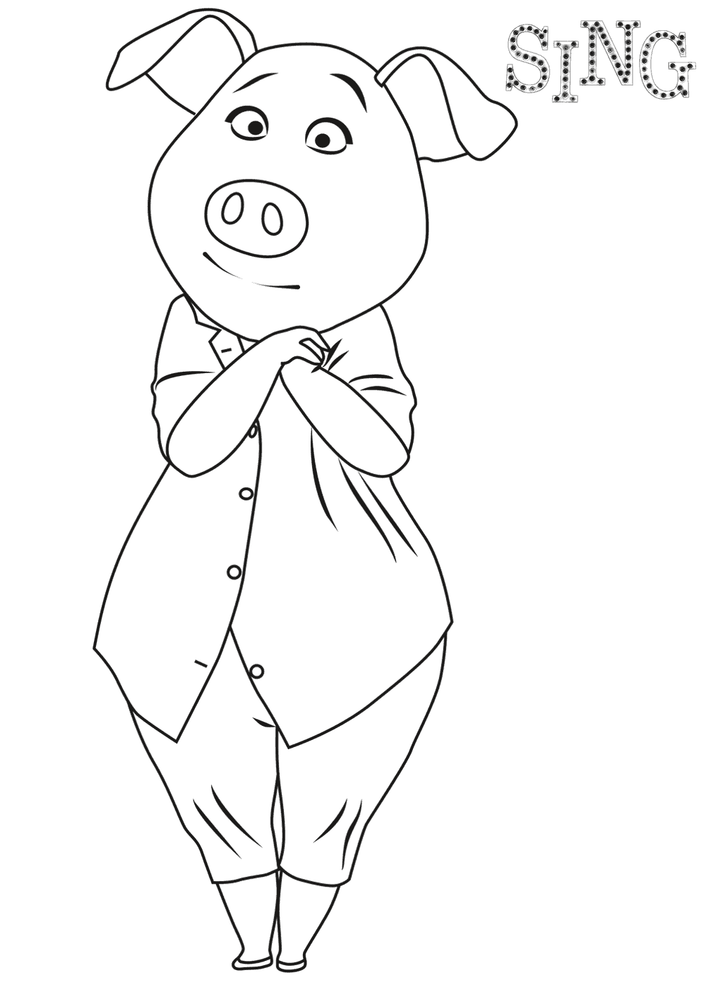 free colouring pages sing coloring pages for kids free images sing movie free sing colouring free pages