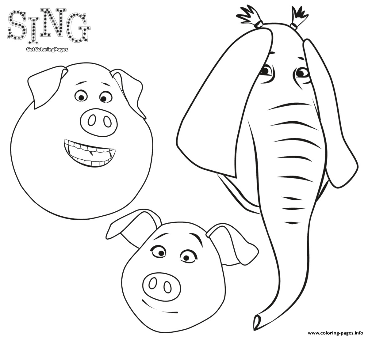 free colouring pages sing sing coloring pages at getcoloringscom free printable free colouring sing pages