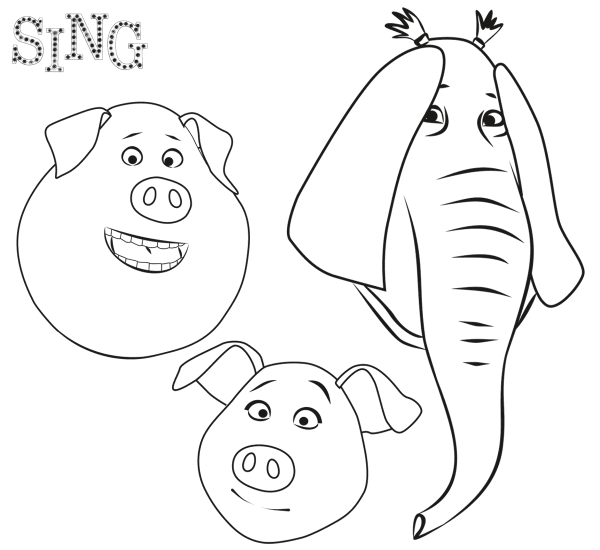 free colouring pages sing sing coloring pages best coloring pages for kids free pages sing colouring 1 1