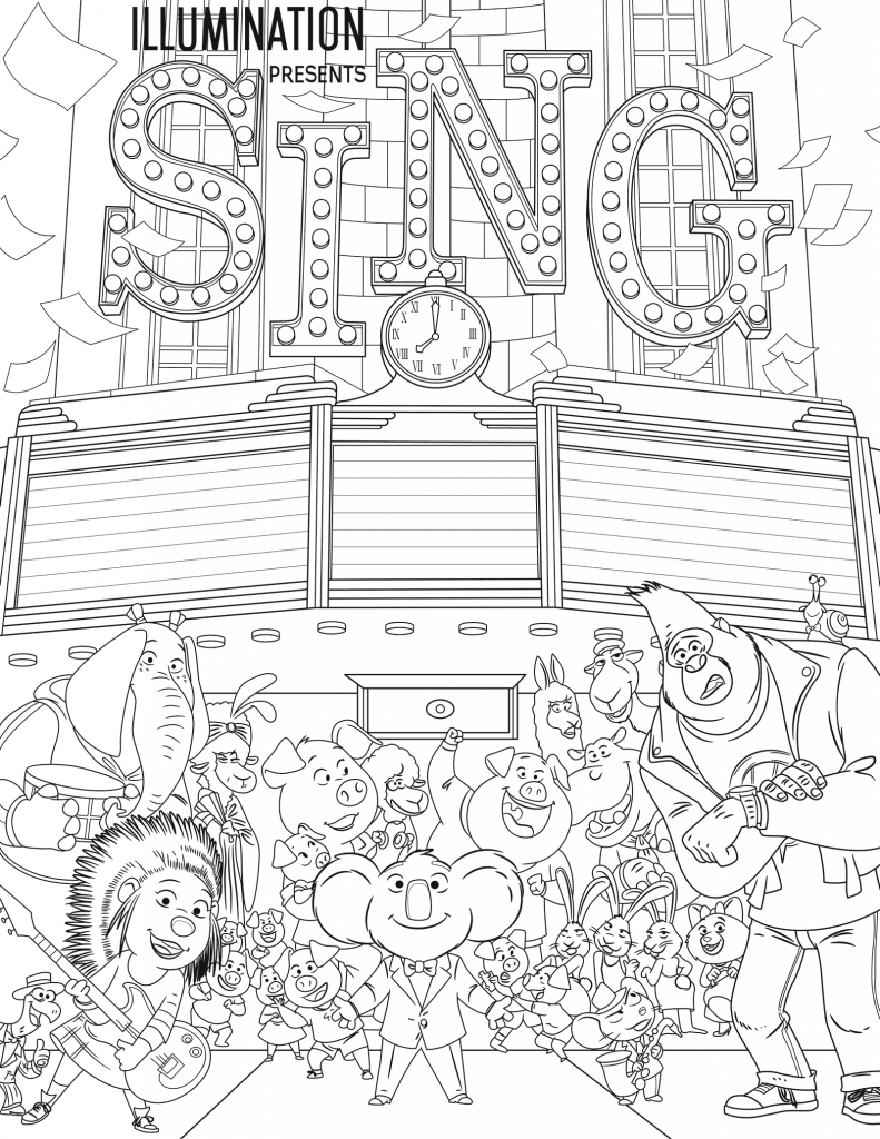 free colouring pages sing sing coloring pages best coloring pages for kids sing free pages colouring