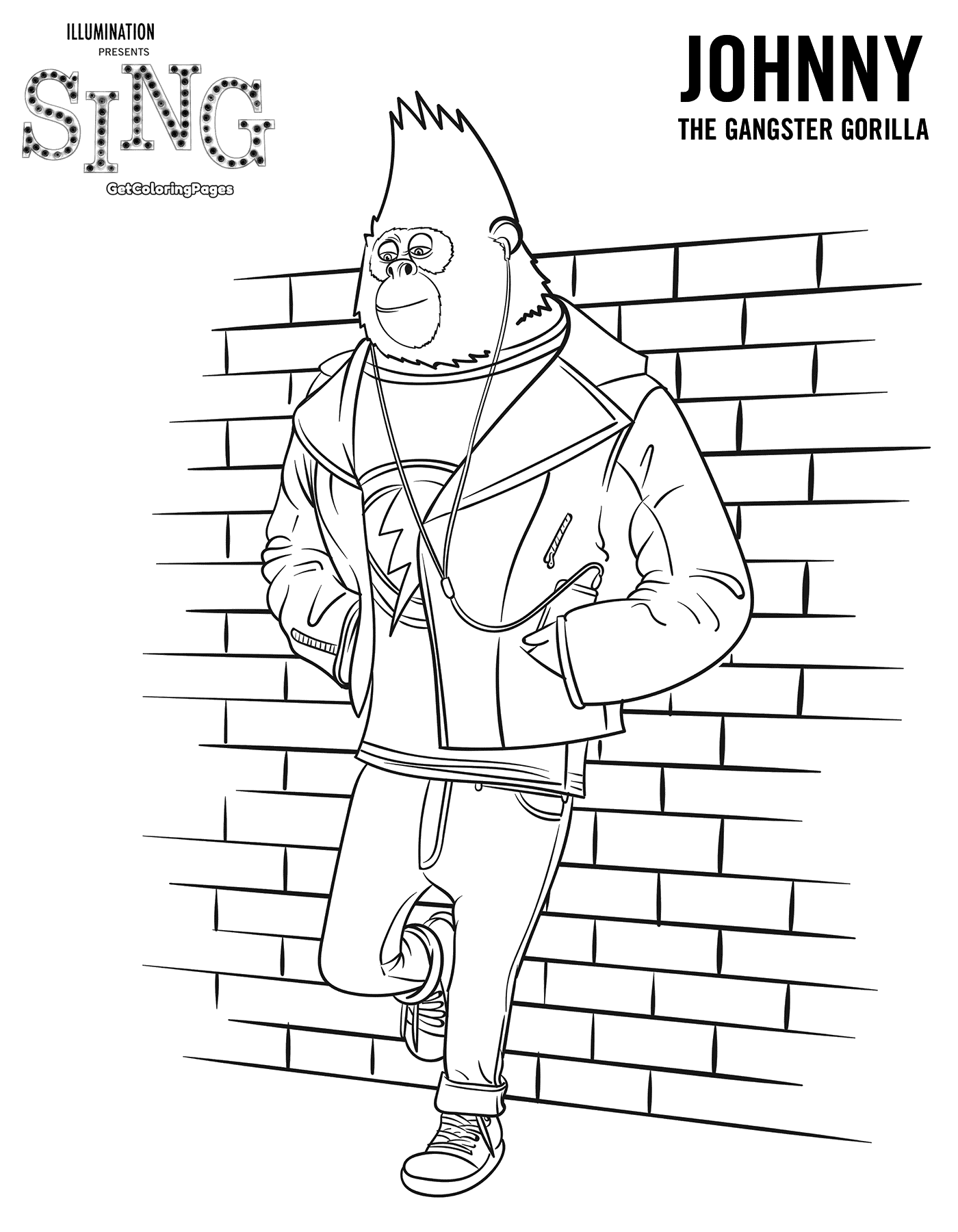 free colouring pages sing sing movie coloring page quotsing quot movie sing movie colouring sing free pages