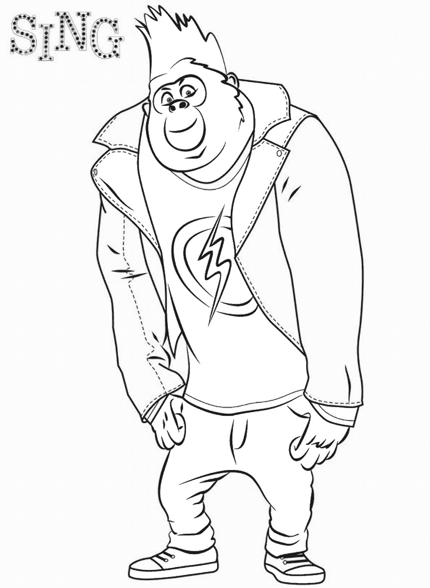 free colouring pages sing sing movie coloring pages getcoloringpagescom free pages sing colouring