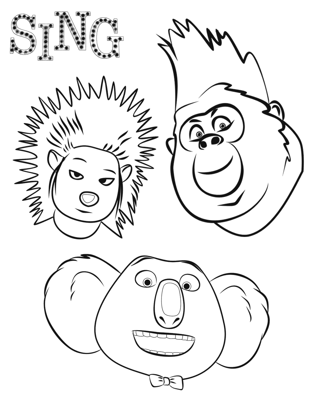 free colouring pages sing sing to color for kids sing kids coloring pages sing free pages colouring
