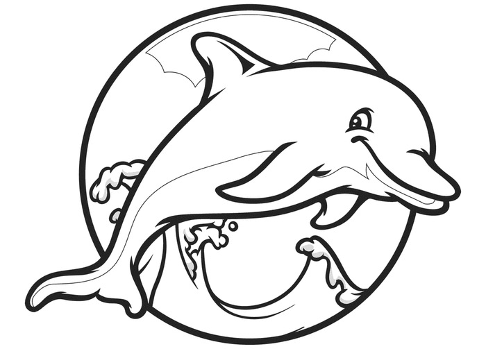 free dolphin coloring pages dolphin template animal templates free premium templates dolphin free coloring pages