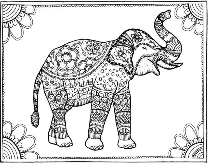 free downloadable coloring pages elephant free coloring book printables popsugar smart downloadable coloring pages free