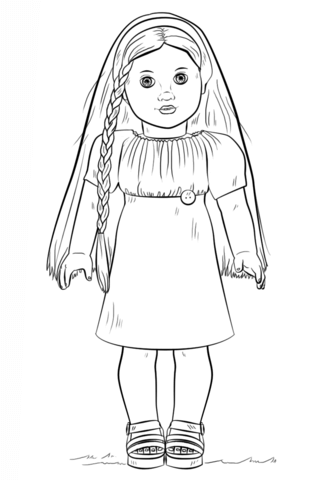 free girl coloring pages american girl doll julie coloring page from american girl free girl pages coloring