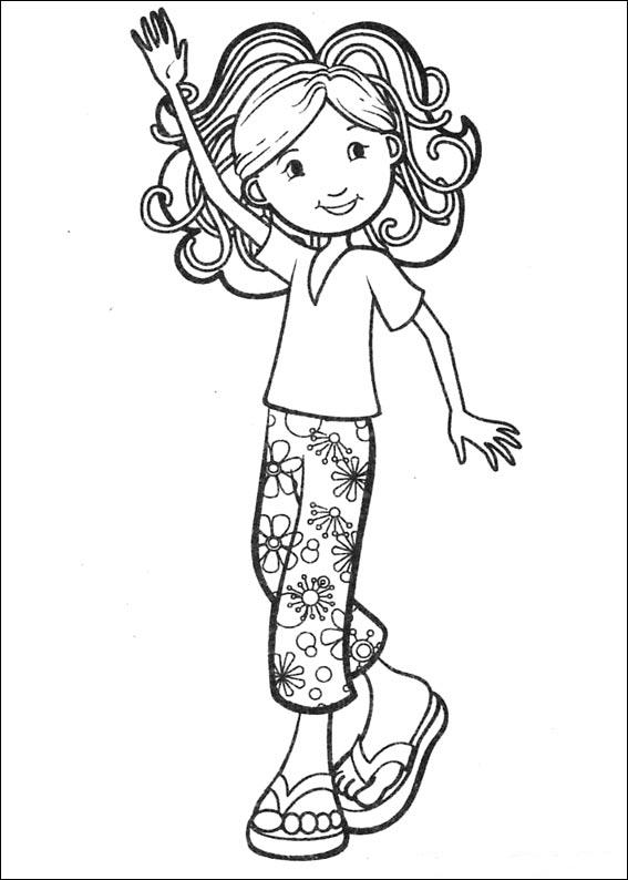 free girl coloring pages kids n funcom 65 coloring pages of groovy girls pages girl free coloring