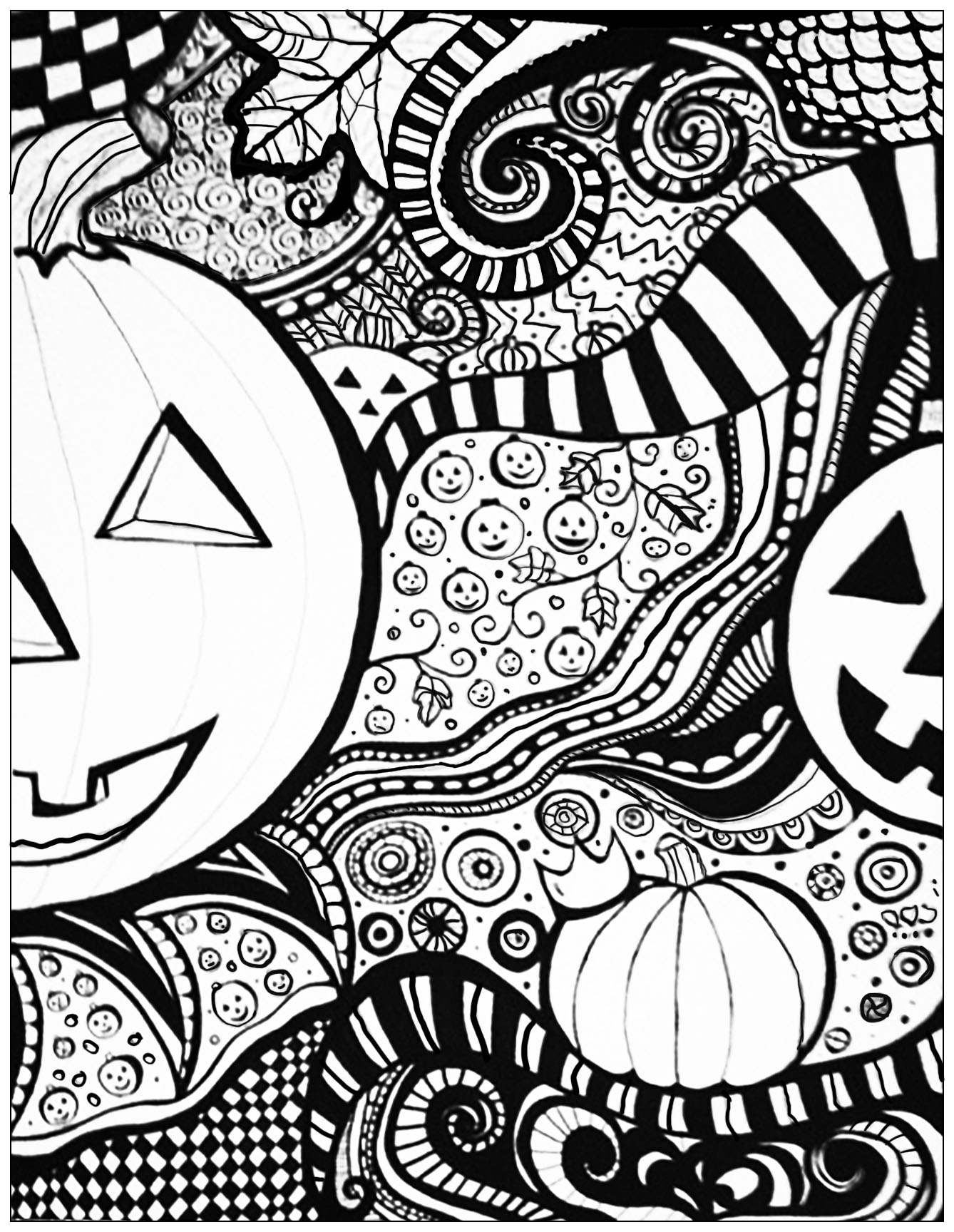 free halloween coloring sheets for adults 5 pages instant download halloween coloring pages 5 free sheets coloring adults halloween for