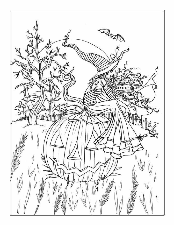free halloween coloring sheets for adults free printable halloween coloring page adults az coloring sheets coloring halloween adults free for