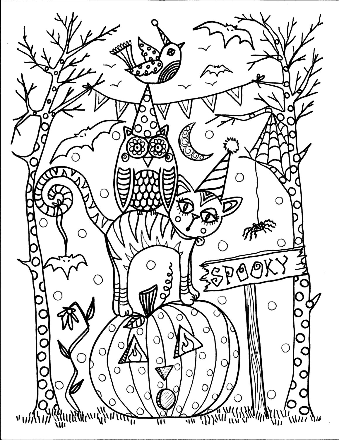 free halloween coloring sheets for adults scary halloween coloring pages for teens coloring home coloring free halloween sheets for adults