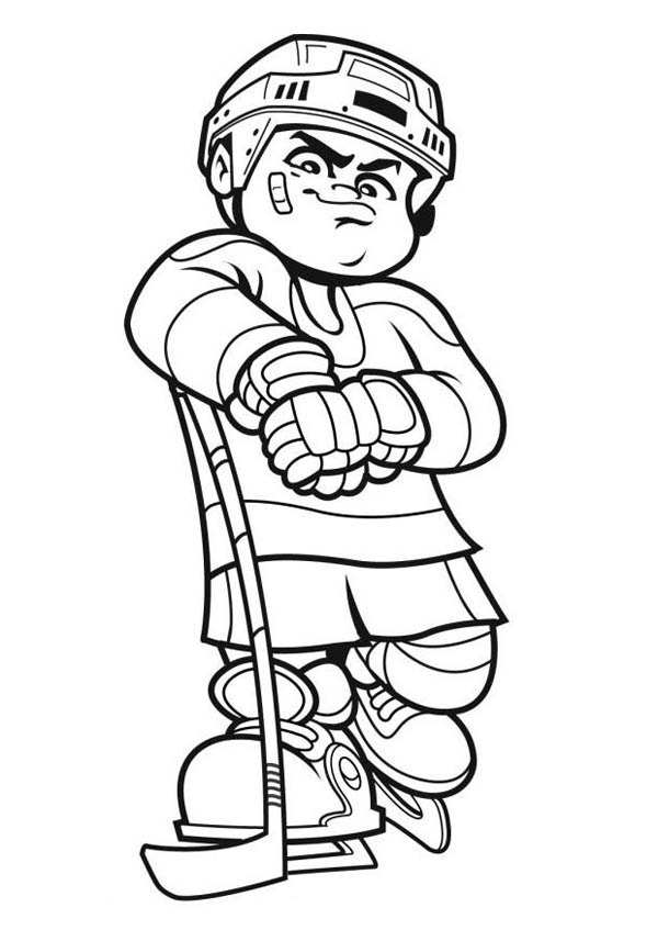 free hockey coloring pages best hockey player coloring page netart pages free hockey coloring