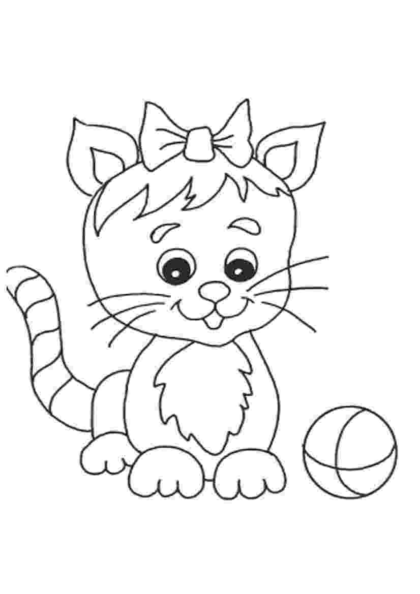 free kitten coloring pages navishta sketch sweet cute angle cats free coloring kitten pages