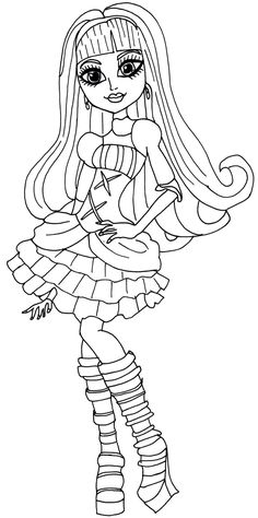 free monster high coloring pages to print girl clawdeen wolf coloring page monster high to free monster print coloring pages high