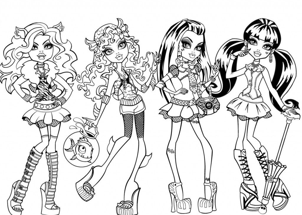 free monster high coloring pages to print monster high catty noir coloring page free printable coloring print free pages high to monster