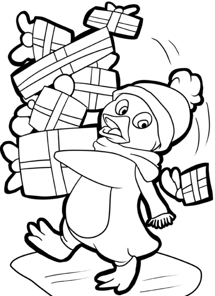 free penguin coloring pages christmas penguin coloring pages printable coloring home penguin free coloring pages