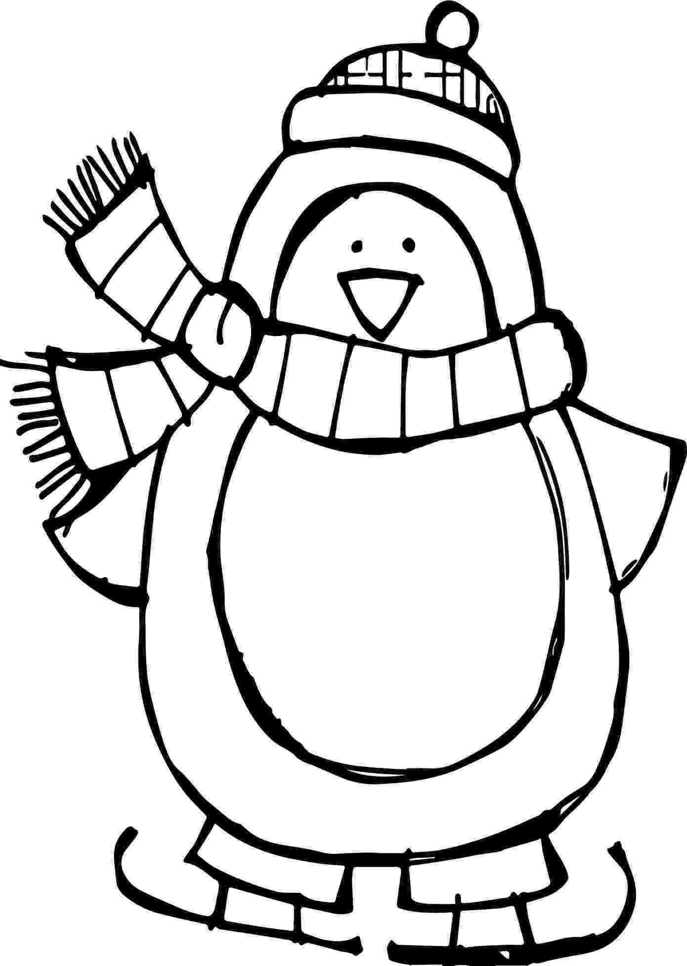 free penguin coloring pages winter basic penguin coloring page wecoloringpagecom pages penguin coloring free