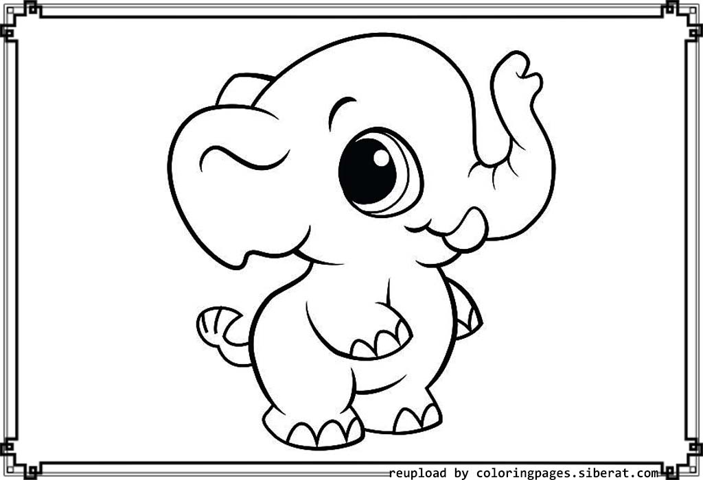 free printable baby animal coloring pages baby elephant coloring pages to download and print for free baby printable pages coloring animal free